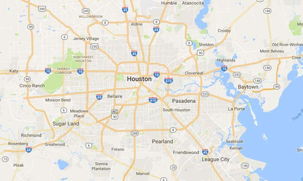 Elaine's Service Area Houston Map