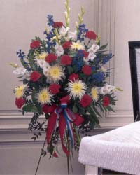Patriotic Sentiments - Funeral Flowers
