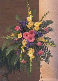 Touching Tribute - Standing Easel of Full Blooms