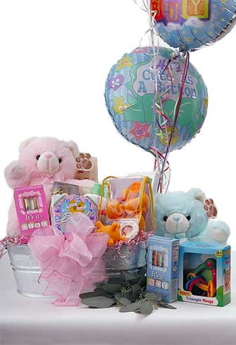 Happy Birthday, Baby! Gift Basket Basket