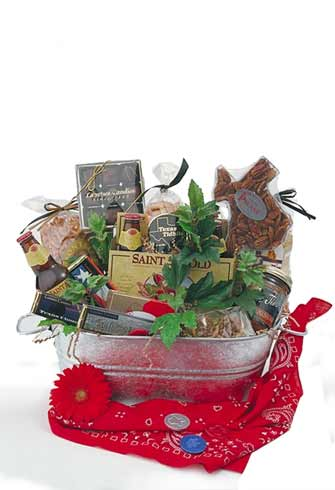 Tub o' Texas Treats Texas Gift Basket