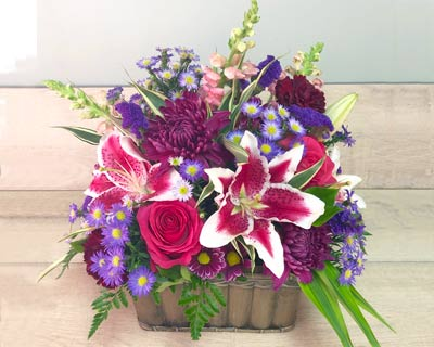 Flower Arrangements in a Basket